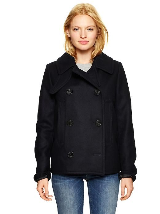 Gap Women Classic Peacoat Size S Petite - navy | 39% OFF | &quotPIN