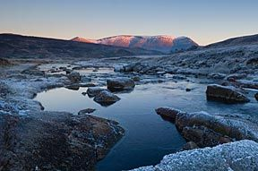 Ben Wyvis, Scottish Highlands in winter.