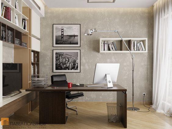 Интерьер кабинета с массивным столом / Home office / home office ideas / home office decor / #design #interior #homedecor #interiordesign