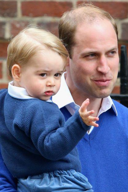 Baby George und Prinz William