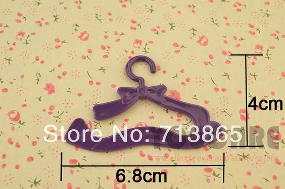 50pcs/lot, frete grátis, boneca cabide/roupas árvore para boneca barbie, boneca monster high, kurhn boneca. 1/6 boneca, acessórios US $6.55 - 9.99