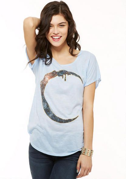 Crescent Moon Tee $24.90 http://store.delias.com/product/mobile/crescent+moon+tee+313206.do