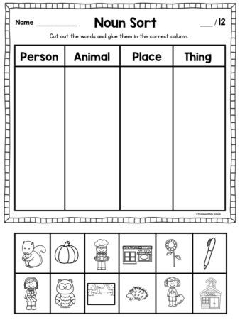 These Noun Activities For First Grade Will Keep Your Students Engaged With Games Pocket Chart In 2020 Nouns Activities Nouns Worksheet Kindergarten Nouns First Grade