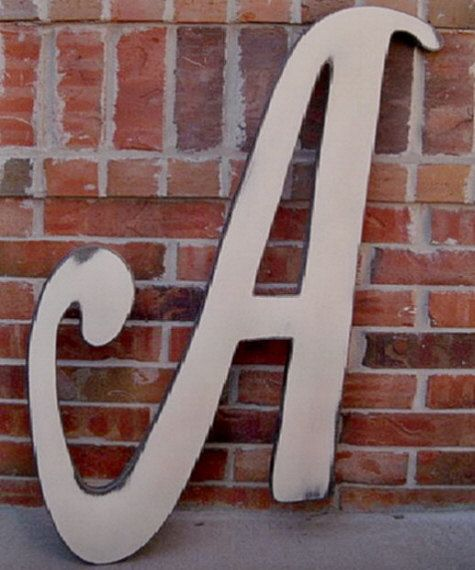 distressed 3 foot tall wooden letter a 36 by With 3 foot tall letters