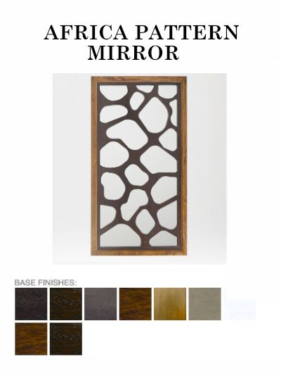 The Africa Pattern #Mirror from ADRIANA HOYOS is available in Grafito, Dark Seike, Mink, Medium Seike, Caramel, Champagne, White, Dark and Medium finish. #modernfurniture #homeaccessories
