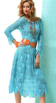 TRICO y CROCHET-madona-mía: Patrón de vestidos de crochet
