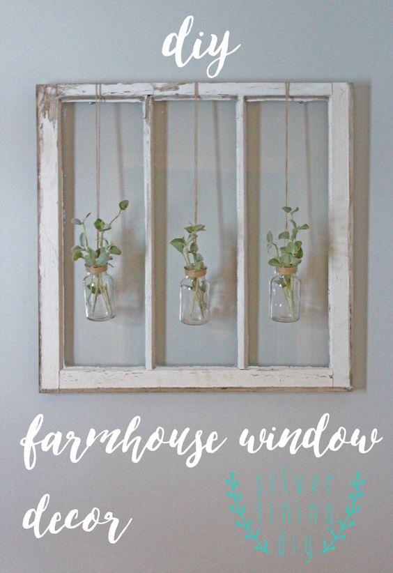 DIY farmhouse window decor