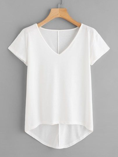 Plus High Low Solid Tee