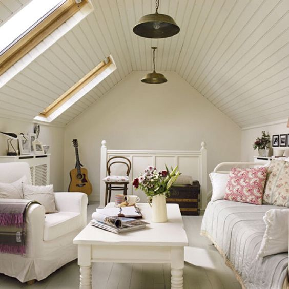 Attic bedroom. I want to turn our attic into my bedroom.