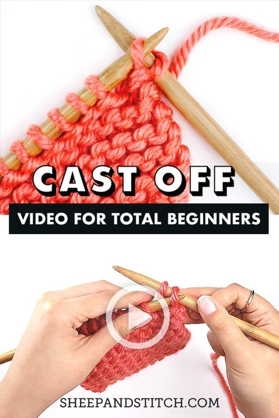 How To Cast Off Knitting For Total Beginners Sheep And Stitch Casting Off Knitting Knitting Tutorial Bind Off Knitting