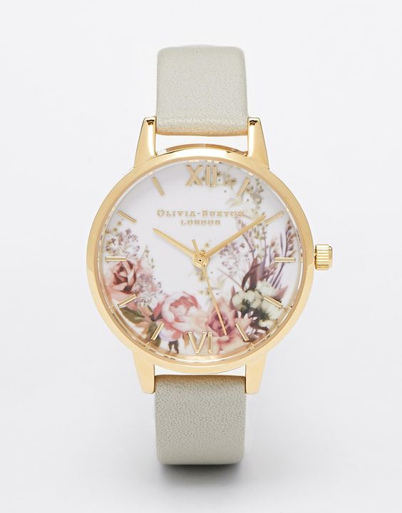 Image 1 - Olivia Burton - Montre à cadran moyen orné de fleurs