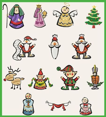 069 Christmas Characters - Jolson's Designs