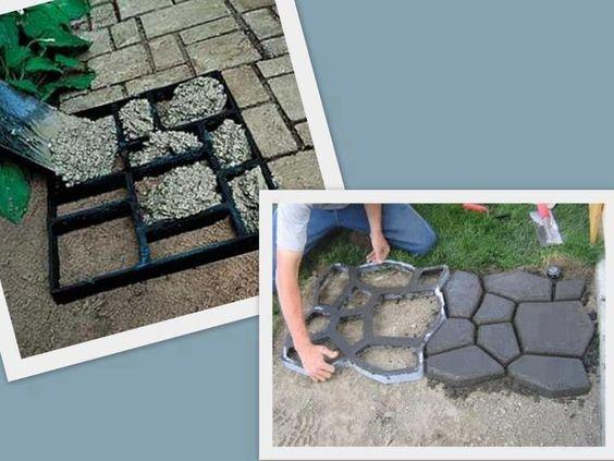 Moldes para hacer pisos de cemento alisado s mil piedra - Hacer pared de piedra ...
