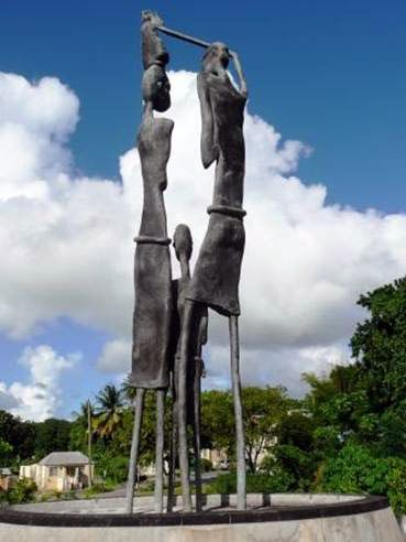 The Rock Hall Freedom Monument is located at Rock Hall Village in the parish of St Thomas.