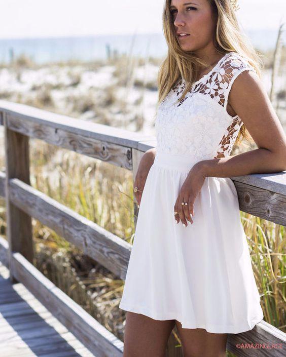 Pretty As A Picture White Lace Dress Amazinglace.com
