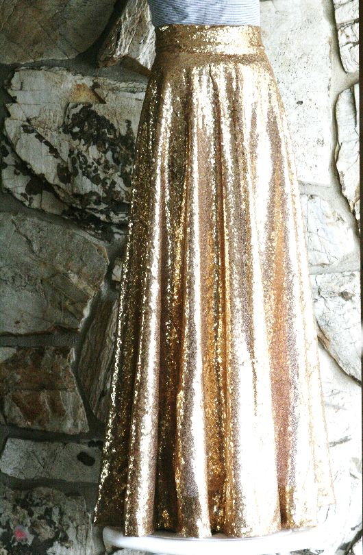 beautiful circles and sequin maxi skirts on
