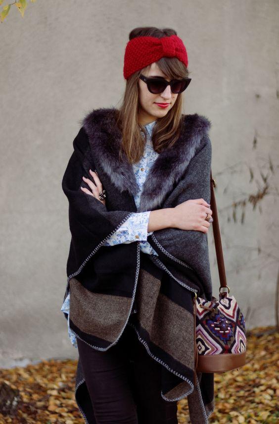 Czy elegancja nie jest inteligencją? Musi być. Lekcje stylu Jadwigi Grabowskiej! / Babeczki na Wybiegu!  #retro #fashion #style #moda #poncho #boho #glam #redlipstick