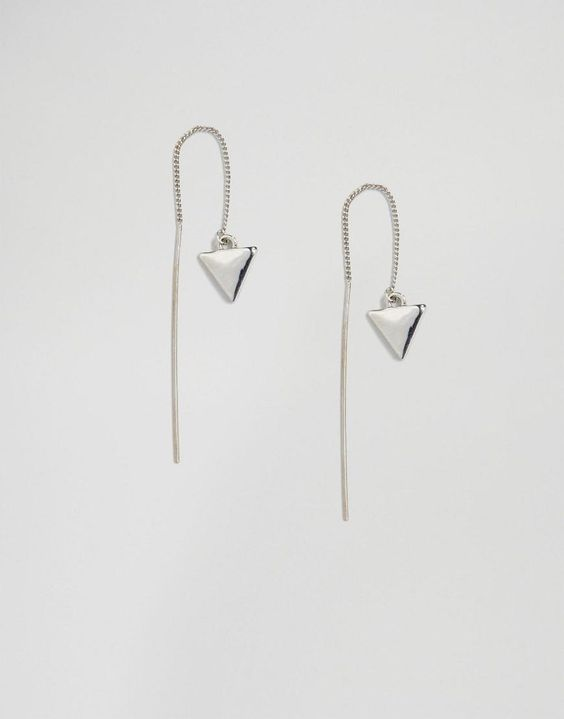 Selected Femme | Selected Femme Zandra Dangle Through & Through Earrings at ASOS