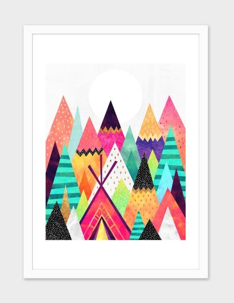 """""""Land Of Color"""", Numbered Edition Fine Art Print by Elisabeth Fredriksson - From $25.00 - Curioos"""