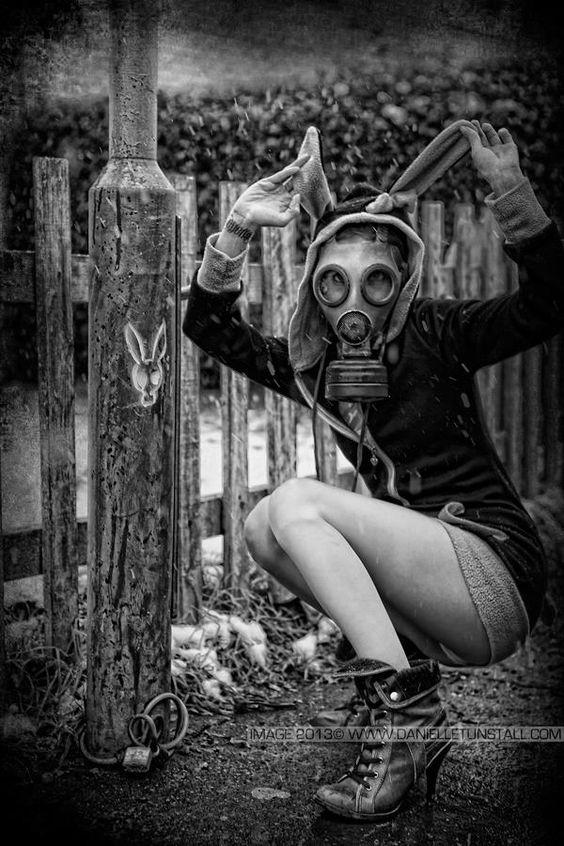 bunny gas mask: