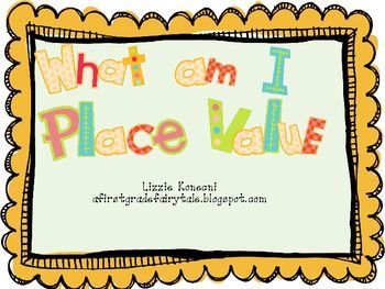 What Am I? Place Value workstations game