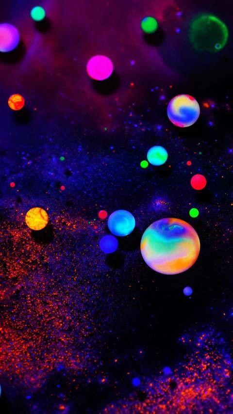 Glow In The Dark Balls Dark Wallpaper Iphone Dark Wallpaper