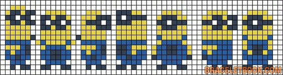 Patterns - Alpha - Minion Friendship Bracelet Pattern #10772 . ☀CQ #jewelry #crafts #DIY