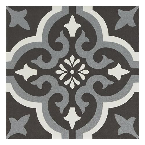 Mohawk Montrose Parisian Midnight Black 8 X 8 Encaustic Porcelain Floor And Wall Tile Porcelain Flooring Porcelain Floor Tiles Fireplace Mantel Shelf