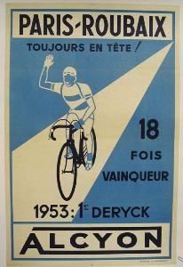 Paris-Roubaix poster 1953