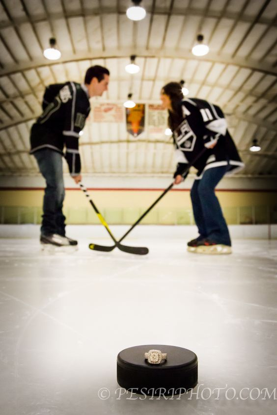 Someone took my idea! (Sort of) I had the idea of putting the ring on the puck in focus and having mike and myself in the background blurrier