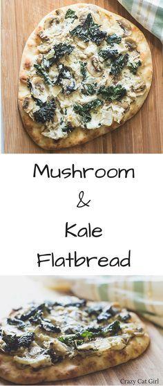 Mushroom & Kale Flatbread (Naan) Single-serving flatbread ready in less than…