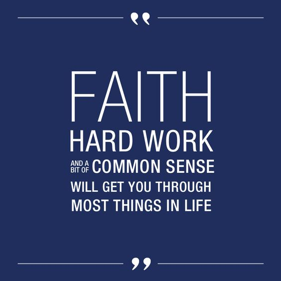 Image result for work faith