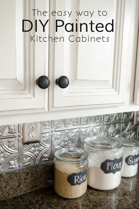 I have wanted white kitchen cabinets for FOREVER. But all three of the houses that we've owned, all came with dark cherry kitchen cabinets. Now don't get me wrong, cherry is nice!But in our current home, the cherry cabinets really bugged me. Like r