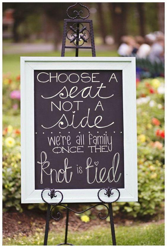DIY wedding welcome entrance ideas
