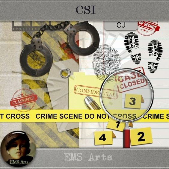 EMS Arts CSI, available at go Digital Scrapbooking, CU ok!  http://www.godigitalscrapbooking.com/shop/index.php?main_page=index&manufacturers_id=153