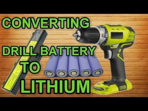 Upgrade Your Drill Battery To Lithium For Free Youtube Cordless Drill Batteries Battery Drill Drill