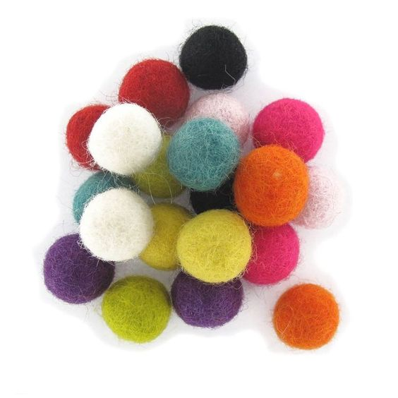 Felt Balls Nursery Craft Galrand Pom Pom 2Cm / 20Mm Christmas Decoration Treat