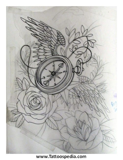 boussole tatouages pinterest tatouage de boussole horloge et design. Black Bedroom Furniture Sets. Home Design Ideas