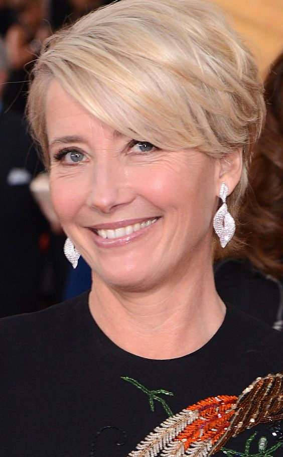 Emma Thompson from Beauty Police: 2014 SAG Awards Well, someone got a good haircut this past week! We were thrilled to see the Saving Mr. Banks star replace the matronly 'do she sported at the Golden Globes with a sleek modern pixie.