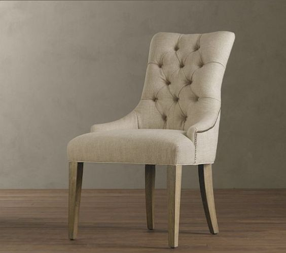 Upholstered Dining Room Chairs | The chiar was inspired by a French design and feature a elegant yet ...