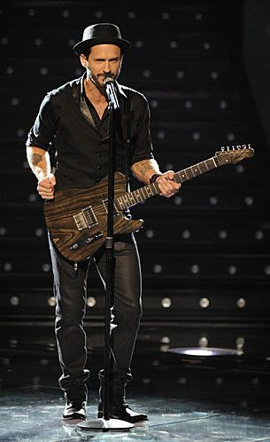 Tony Lucca. Hoping he sings his #TheVoice rendition of BOMT on Wednesday!