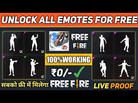 How To Unlock Free All Emotes In Free Fire New Trick You Miss It 2019 New Trick Youtube New Tricks Free Gift Card Generator Hack Free Money