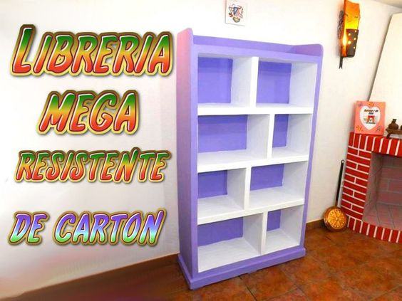 Librer a de cart n paso a paso tutoriales diy y for Manualidades de muebles