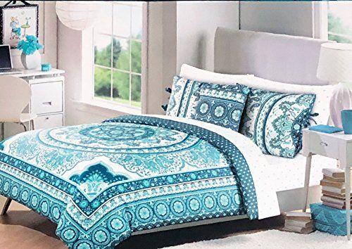 Cynthia Rowley Bedding 3 Piece Full Queen Size Duvet Comforter