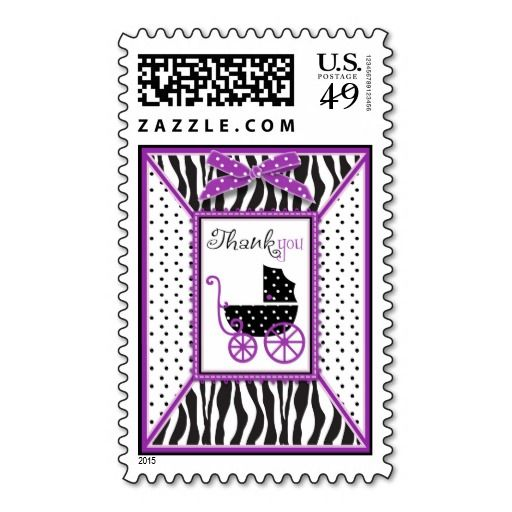 Boutique Chic Violet TY Stamp! Make your own stamps more personal to celebrate the arrival of a new baby. Just add your photos and words to this great design.