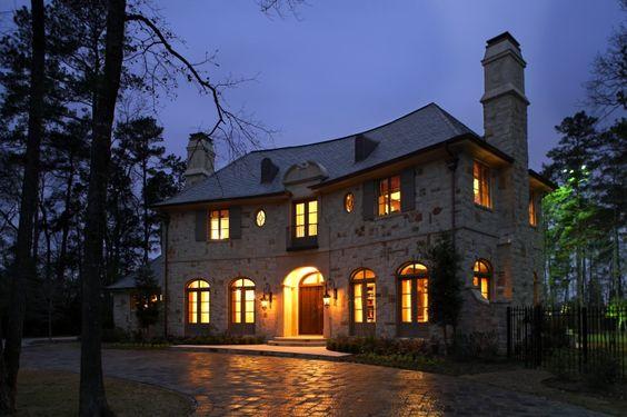 Beautiful home...love the stone work.