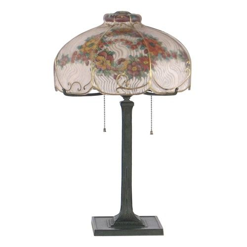Pairpoint Lamp with Floral Garlands - $8500.