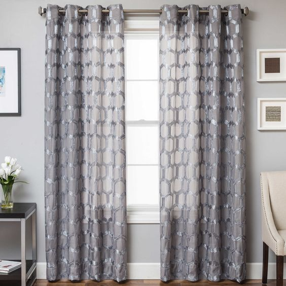 Curtains Ideas 80 inch door panel curtains : Rochelle Grommet Top Window Curtain Panel | window treatments ...