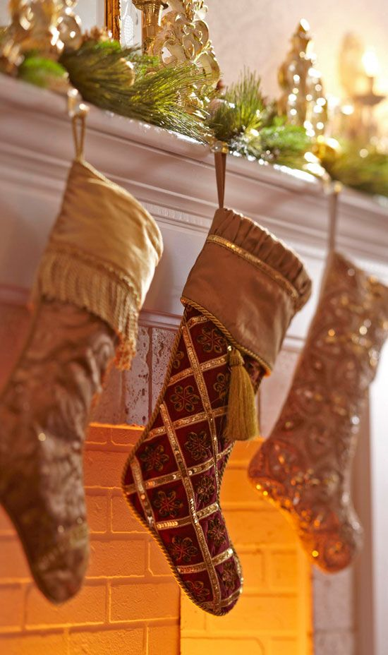 Glitter Stockings Christmas Decor Ideas Pinterest