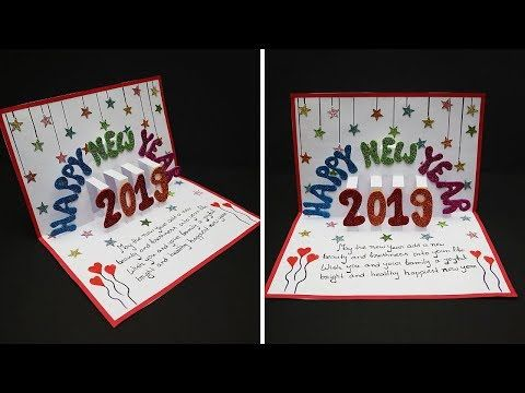 Diy New Year Pop Up Greeting Cards 2019 How To Make New Year Pop